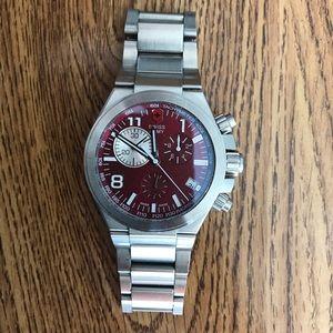 Men's (deep red) Victorinox Swiss Army Watch